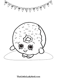 Small Picture Free Delish Donut Shopkins coloring page TheLittleLadybirdcom
