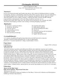 assistant store manager trainee resume example  walgreens    featured resumes