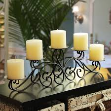 Adeco 5-pillar Iron Table Top Candle Holder - Free Shipping Today -  Overstock.com - 17446462