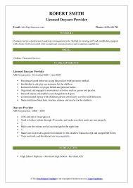 Daycare Organizational Chart Daycare Provider Resume Samples Qwikresume