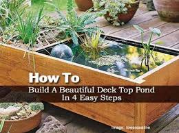 diy patio pond: how to build an deck top pond in  easy steps