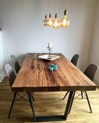 Esstisch Massivholztisch Aus Eichenholz Altholz Tischgestell Aus