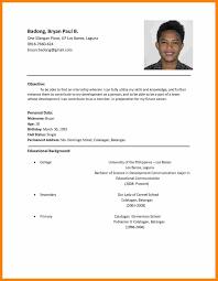 Application Curriculum Vitae Job Application Cv Sample Resume Format