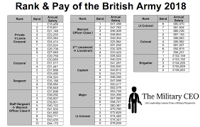 2018 Military Reserve Pay Chart 2018 British Army Pay Scales Is Transparency A Good Thing