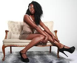 Black girl in high heels