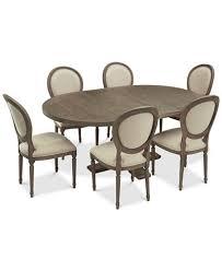 expandable furniture. Tristan Round Expandable Dining Furniture, 7-Pc. Set (Table \u0026 6 Side Furniture