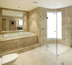 bathroom wall tile removal ideas using stylish built in tub and corner shower glass using elegant frameless mirror bathroom walls how