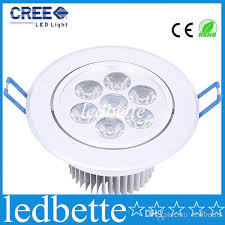 dimmable 21w 7x3w led downlights with drivers ac85v 265v recessed downlight ceiling lights down light bright lamp save energy downlight spacing surface