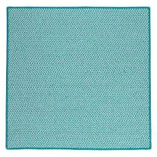 sa turquoise 6 ft x 6 ft indoor outdoor braided area rug