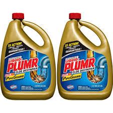 liquid plumr 80 oz professional strength full clog destroyer 2 pack