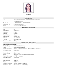 8 Resume For Job Application Filipino Paradochart