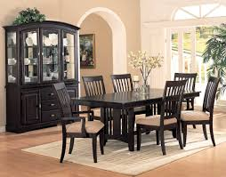 Chinese Dining Room Table Black Floor With Gold Chair Glass Table Elegant Luxury Dining Room