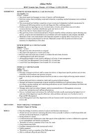 Medical Case Manager Resume Medical Case Manager Resume Samples Velvet Jobs 1