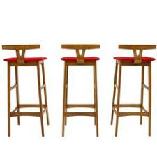 erik buch bar stools teak wood red kvadrat fabric dyrlund at
