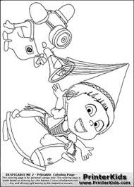 Despicable Me Purple Minions Coloring Pages Traffic Club
