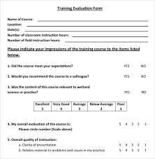 7+ Sample Training Evaluations | Sample Templates