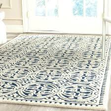 byron blue navy ivory area rug by three posts and white new square hand woven wool