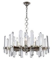 elegant lighting 1530d30pn rc lincoln 10 light 30 inch polished nickel chandelier ceiling light urban classic