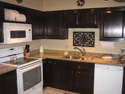 dark stained kitchen cabinets. Attractive Kitchen Decoration With Staining Oak Wood Cabinet : Awesome Small U Shape Dark Stained Cabinets