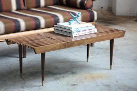 slat coffee table appealing mid century modern expanding slat bench coffee table by mid century wood slat coffee table