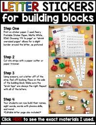 letter stickers for building blocks a