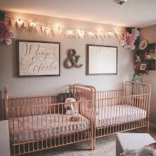 twins nursery furniture. double the rose gold love in this sweet twins nursery from emileestucky furniture
