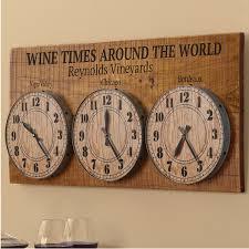 personalized wine times around the world clock enthusiast world clocks decor home decorating ideas decorative wall