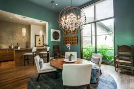 casual dining area high style meets function in dallas