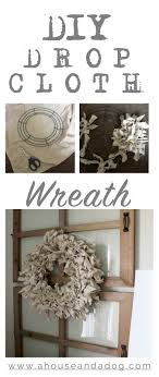 drop cloth wreath purchase the window pane from