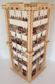Wooden Necklace Display Stands Pretentious Hot Earrings Ear Studs Jewelry Show Plastic Jewelry 76