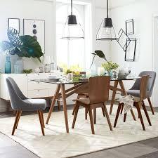 mid century walnut dining chairs mid century modern furniture dining set