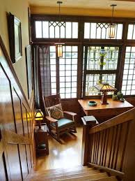 furniture for craftsman style home. stair hall in a 1916 aladdin kit house furniture for craftsman style home e