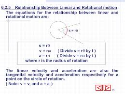 6 2 5 relationship between linear and rotational motion