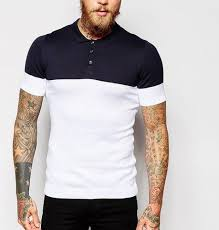 <b>100</b>% <b>Cotton Knitted Mens</b> Two Tone Polo T-Shirt at Best Price in ...