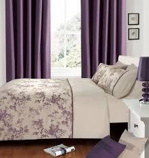 plum purple colour luxury modern stylish jacqurd pattern duvet quilt cover set