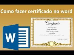 Moldura Para Word Baixar Como Fazer Certificado Personalizado No Word