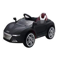 black convertible sport car ride on