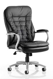 Colossus Heavy Duty Black Leather Office Chair