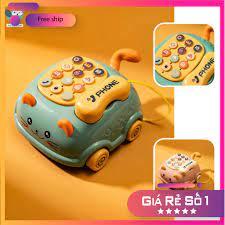 Điện thoại đồ chơi cho bé, đồ chơi phát nhạc cho trẻ từ 0-3 tuổi - giáo dục  sớm [Mã FASHION10K hoàn 10K xu đơn 0Đ] [Mã F