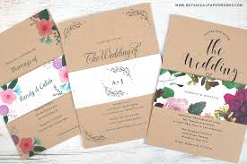 new kraft paper wedding invitations with seed paper belly bands