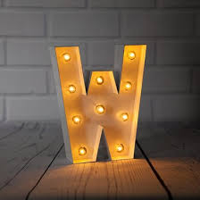 letter lighting. White Marquee Light Letter \u0027W\u0027 LED Metal Sign (8 Inch, Battery Operated W/ Timer) Lighting