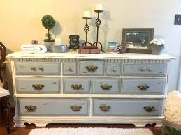 Blue And White Shabby Chic Dresser Light Furniture Chalk Painted Two ...