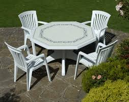 white plastic patio table and chairs and the nardi olimpo white provenza patio set with 4