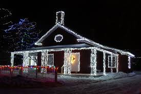 cool christmas house lighting. Interesting Christmas The Physicianu0027s House At Upper Canada Village To Cool Christmas Lighting