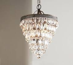 small glass chandelier wine drop