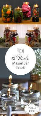 How to Make Mason Jar Oil Lamps