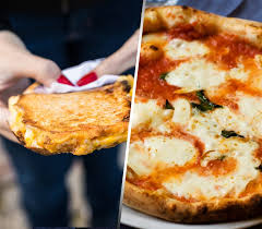 image grileld cheese and cheese pizza