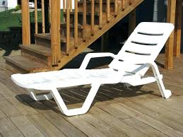 astounding white plastic outdoor chaise lounge