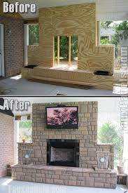 outdoor fireplace diy home design fi60 regency random rock aspen from