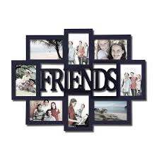 Adeco 'Friends' 8-opening Black Wooden Photo Collage Frame (Adeco 8-Opening  Black Wall Hanging Photo Frame), Size 4x6
